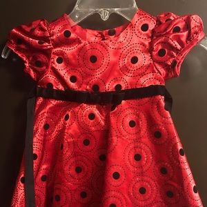 Red infants dress. Size 12 months.